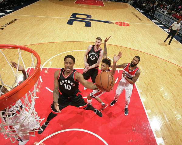 Nba Pro Basketball Poster featuring the photograph Demar Derozan by Ned Dishman