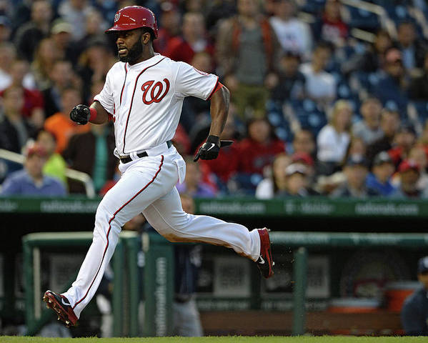 American League Baseball Poster featuring the photograph Denard Span and Anthony Rendon by Patrick Smith