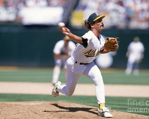 American League Baseball Poster featuring the photograph Dennis Eckersley by Jed Jacobsohn