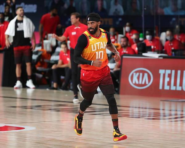Nba Pro Basketball Poster featuring the photograph Denver Nuggets v Utah Jazz by Joe Murphy