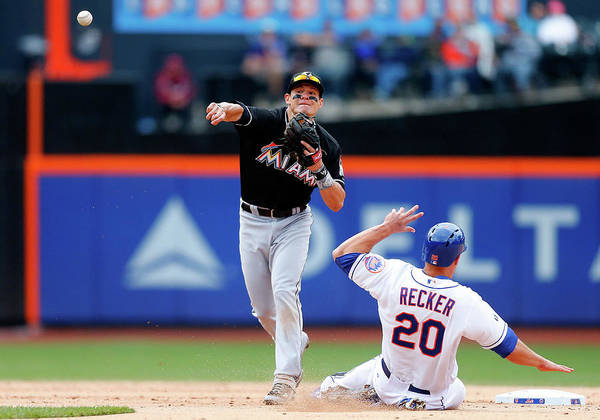 Double Play Poster featuring the photograph Derek Dietrich by Jim Mcisaac