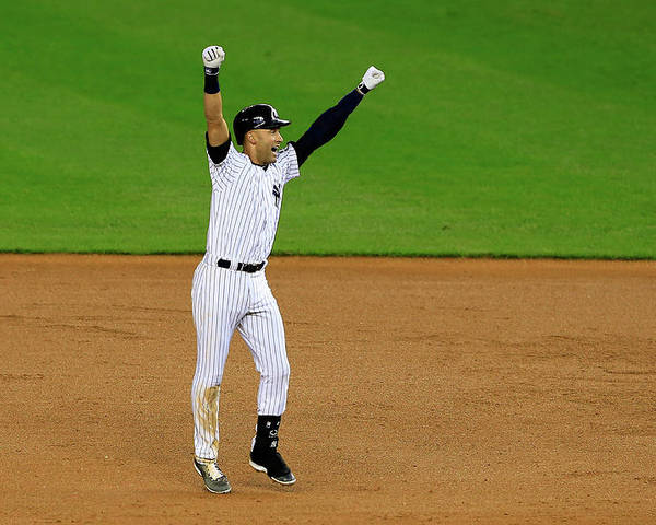 Ninth Inning Poster featuring the photograph Derek Jeter by Alex Trautwig