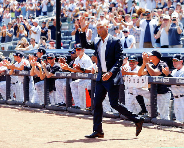 People Poster featuring the photograph Derek Jeter and Jorge Posada by Jim Mcisaac