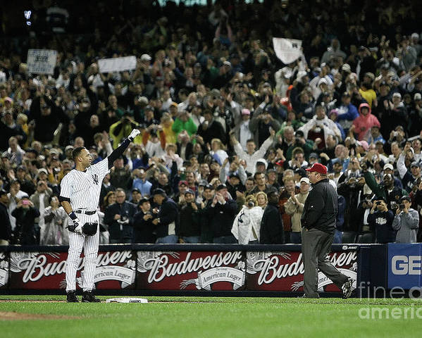 People Poster featuring the photograph Derek Jeter by Mike Ehrmann