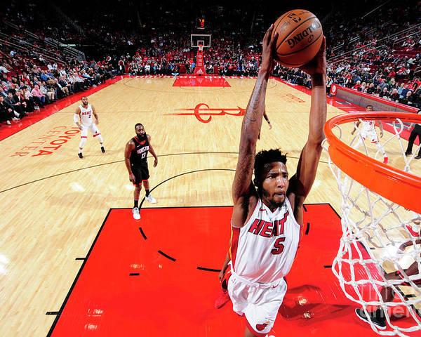 Nba Pro Basketball Poster featuring the photograph Derrick Jones by Bill Baptist