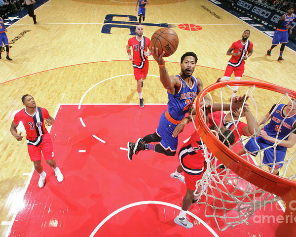 Nba Pro Basketball Poster featuring the photograph Derrick Rose by Ned Dishman
