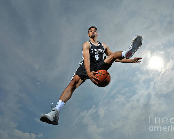 Nba Pro Basketball Poster featuring the photograph Derrick White by Jesse D. Garrabrant