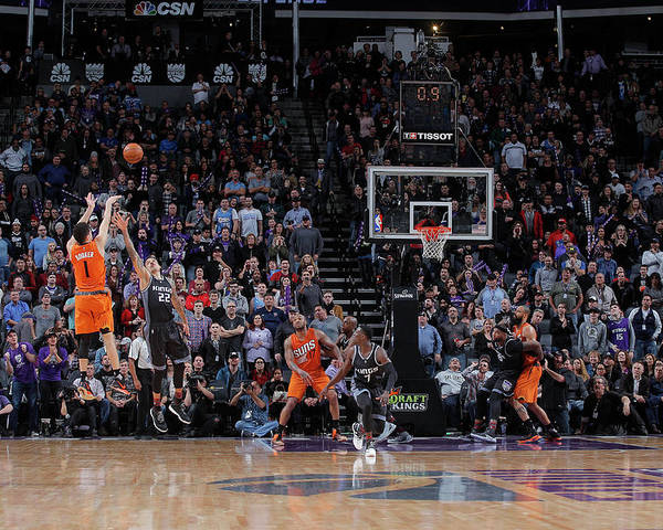 Nba Pro Basketball Poster featuring the photograph Devin Booker by Rocky Widner
