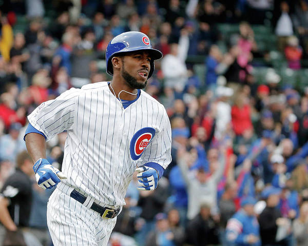 Three Quarter Length Poster featuring the photograph Dexter Fowler by Jon Durr