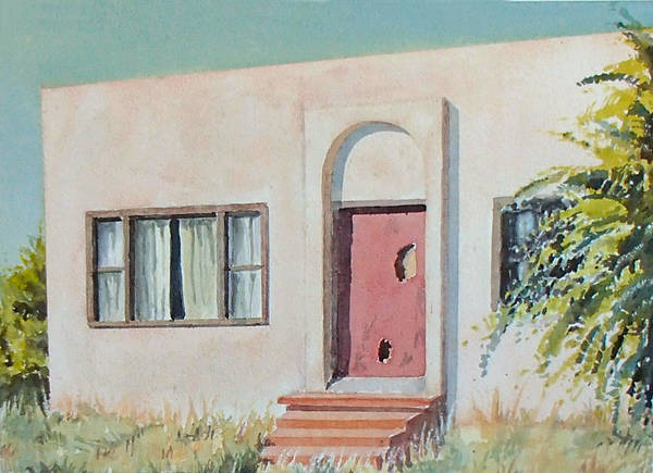 House Poster featuring the painting Once was a Home by Philip Fleischer