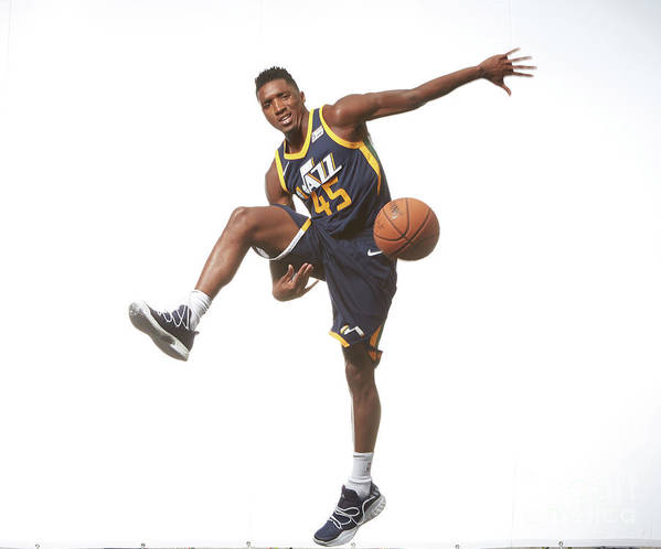 Nba Pro Basketball Poster featuring the photograph Donovan Mitchell by Nathaniel S. Butler