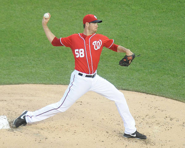 Second Inning Poster featuring the photograph Doug Fister by Mitchell Layton
