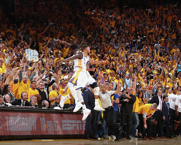 Playoffs Poster featuring the photograph Draymond Green and Stephen Curry by Nathaniel S. Butler