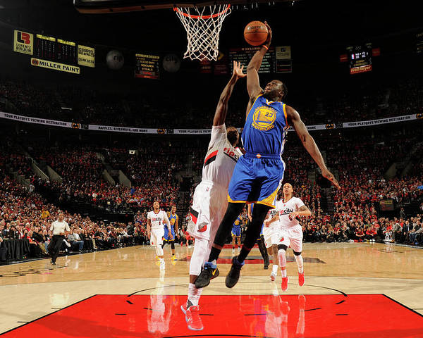 Playoffs Poster featuring the photograph Draymond Green by Cameron Browne