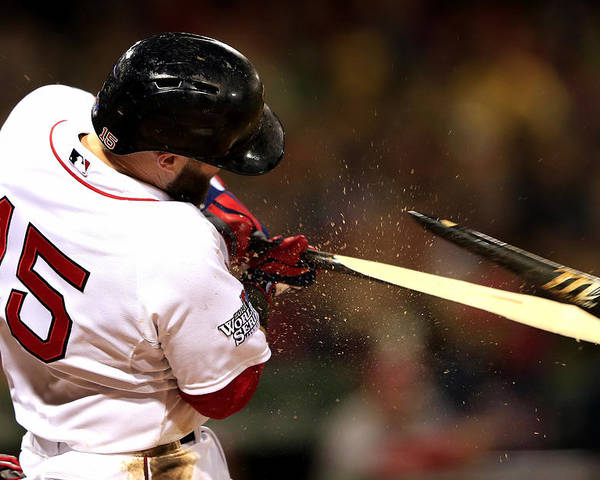 St. Louis Cardinals Poster featuring the photograph Dustin Pedroia by Jamie Squire