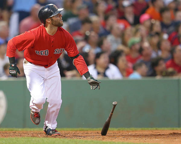 People Poster featuring the photograph Dustin Pedroia by Jim Rogash