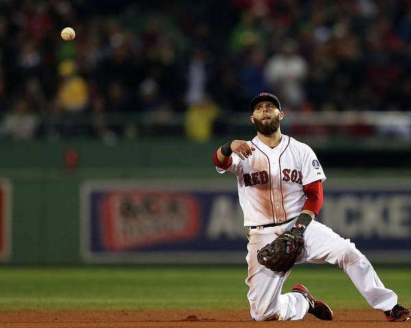 Playoffs Poster featuring the photograph Dustin Pedroia by Rob Carr