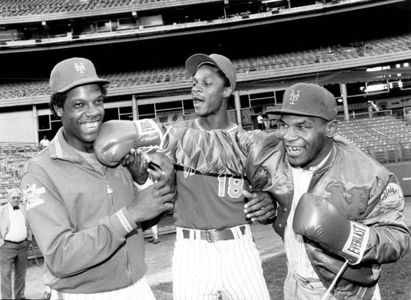 Event Poster featuring the photograph Dwight Gooden, Darryl Strawberry, and Mike Tyson by New York Daily News Archive