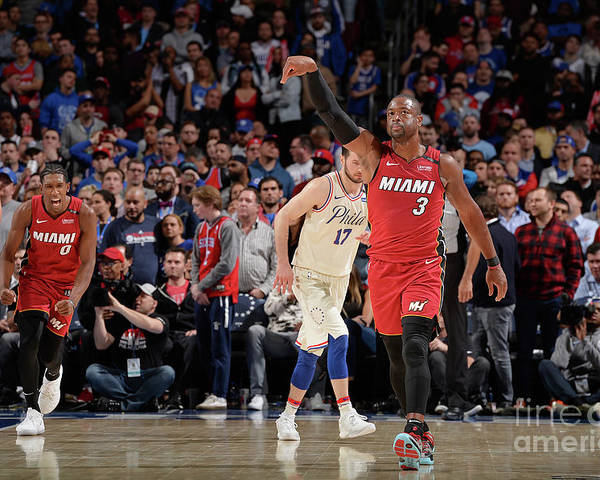 Playoffs Poster featuring the photograph Dwyane Wade by David Dow