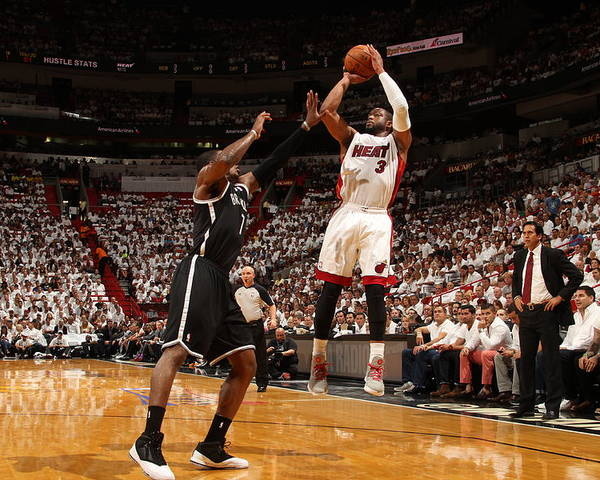 Playoffs Poster featuring the photograph Dwyane Wade by Issac Baldizon