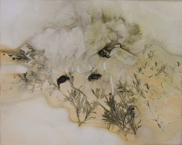 Nature Poster featuring the mixed media Eco print 5 by Charla Van Vlack