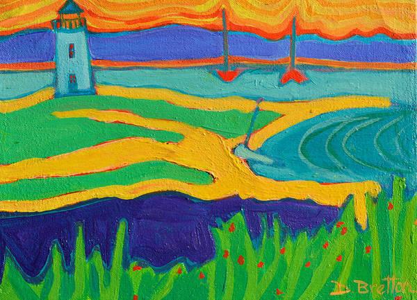 Edgartown Poster featuring the painting Edgartown Light by Debra Bretton Robinson