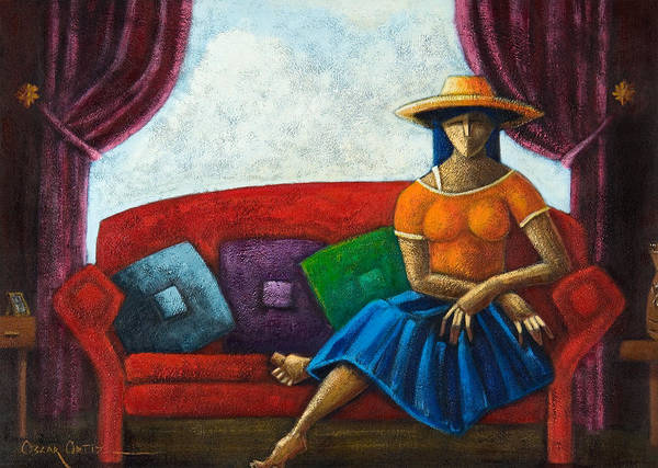 Puerto Rico Poster featuring the painting El Ultimo Romance Del Verano by Oscar Ortiz