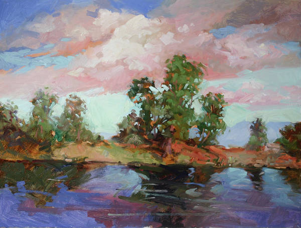 Plein Air Paintings Poster featuring the painting End of the Cottonwoods by Betty Jean Billups