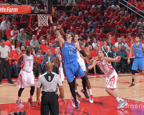 Playoffs Poster featuring the photograph Enes Kanter by Bill Baptist