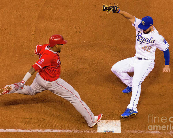 People Poster featuring the photograph Eric Hosmer and Yunel Escobar by Kyle Rivas