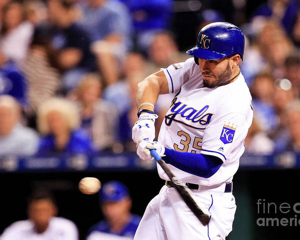 Three Quarter Length Poster featuring the photograph Eric Hosmer by Brian Davidson