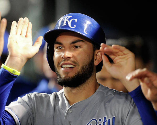 American League Baseball Poster featuring the photograph Eric Hosmer by Greg Fiume