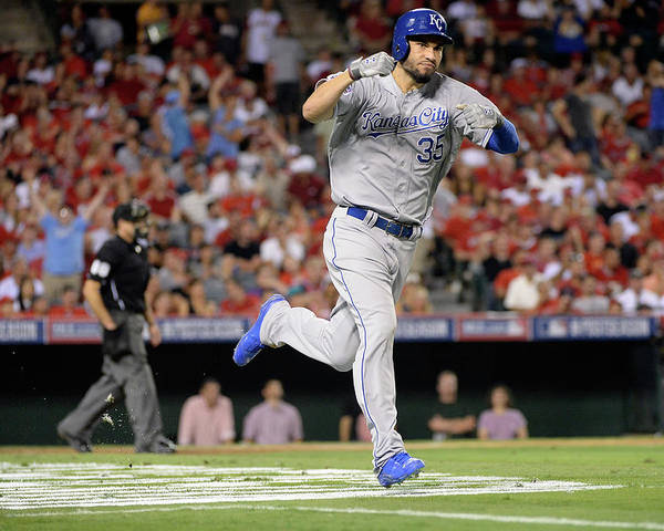 Game Two Poster featuring the photograph Eric Hosmer by Harry How