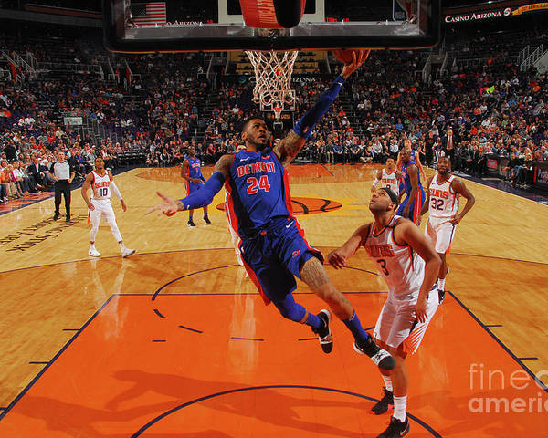 Sports Ball Poster featuring the photograph Eric Moreland by Barry Gossage
