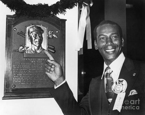 People Poster featuring the photograph Ernie Banks by National Baseball Hall Of Fame Library