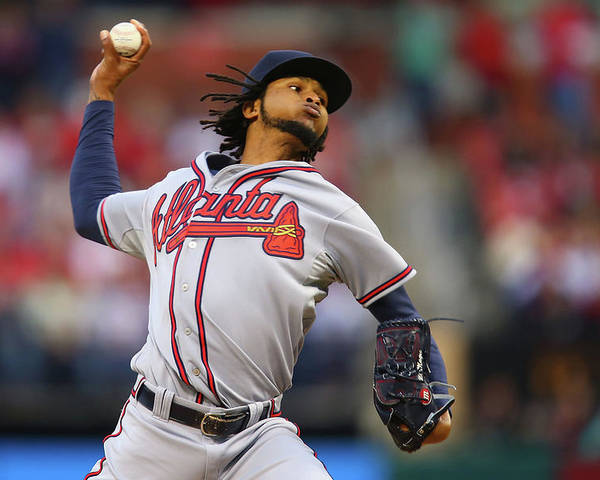 St. Louis Poster featuring the photograph Ervin Santana by Dilip Vishwanat