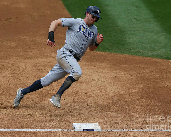 People Poster featuring the photograph Evan Longoria by Justin Edmonds