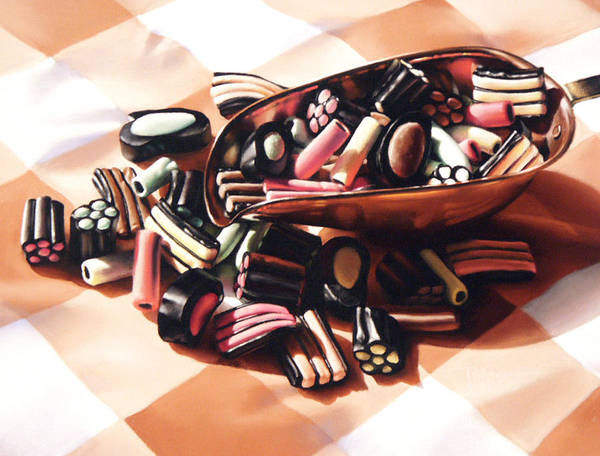 Candy Poster featuring the pastel Finnish Allsorts by Dianna Ponting