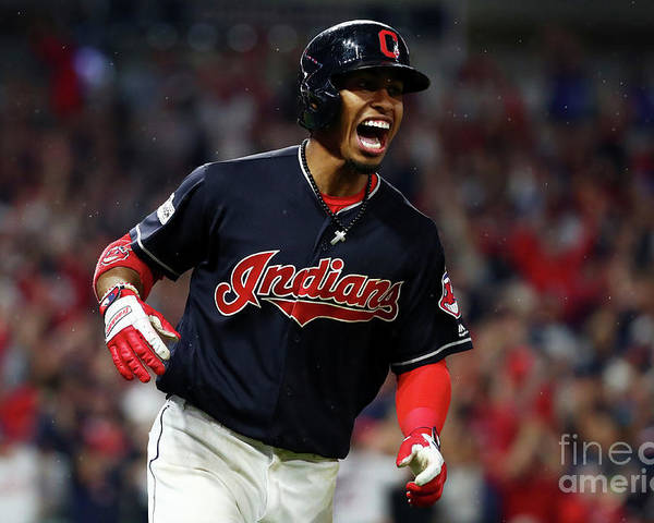 Game Two Poster featuring the photograph Francisco Lindor by Gregory Shamus