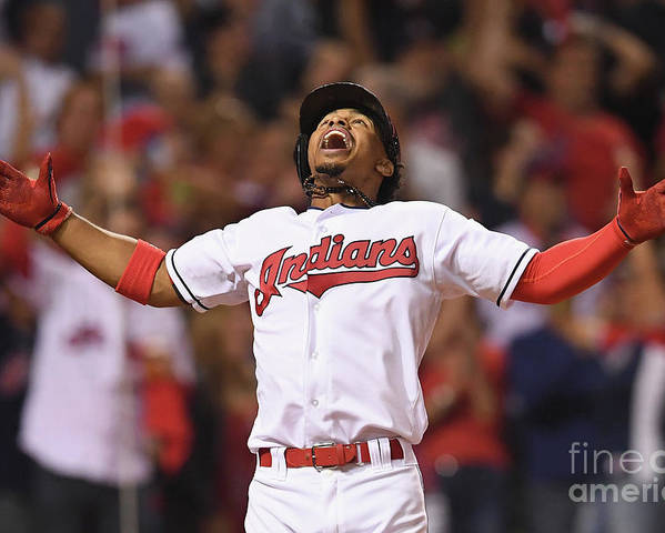Three Quarter Length Poster featuring the photograph Francisco Lindor by Jason Miller