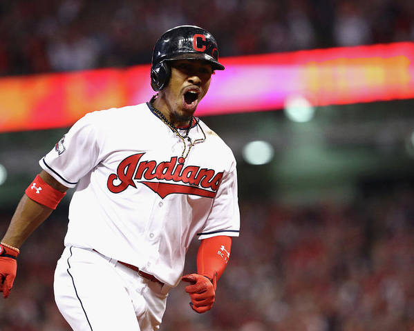 Three Quarter Length Poster featuring the photograph Francisco Lindor by Maddie Meyer