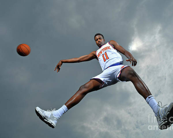 Nba Pro Basketball Poster featuring the photograph Frank Ntilikina by Jesse D. Garrabrant