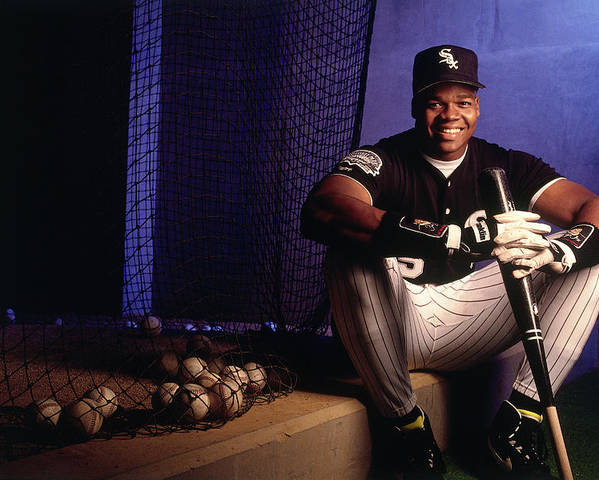 American League Baseball Poster featuring the photograph Frank White by Ronald C. Modra/sports Imagery
