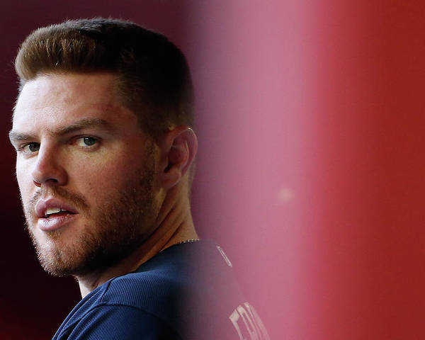 People Poster featuring the photograph Freddie Freeman by Christian Petersen