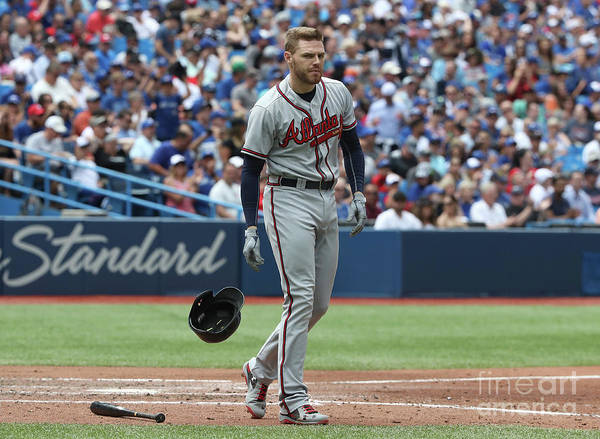 People Poster featuring the photograph Freddie Freeman by Tom Szczerbowski