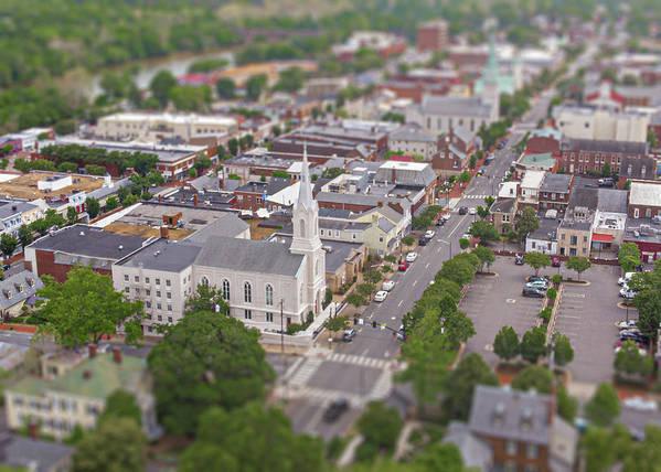 #fredericksburgamodelcity Poster featuring the photograph Fredericksburg Baptist Church by Michael Casey