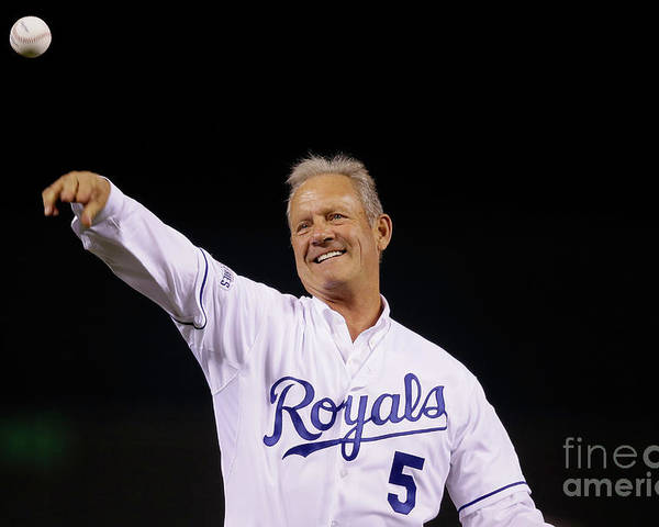 Game Two Poster featuring the photograph George Brett by Pool