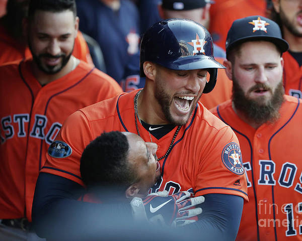 People Poster featuring the photograph George Springer and Tony Kemp by Gregory Shamus