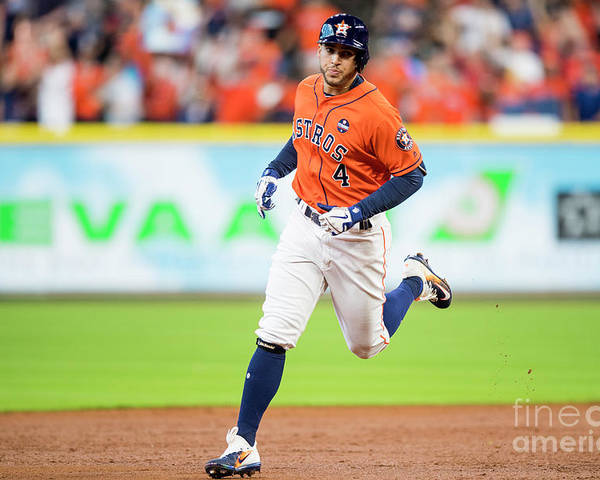 Game Two Poster featuring the photograph George Springer by Billie Weiss/boston Red Sox