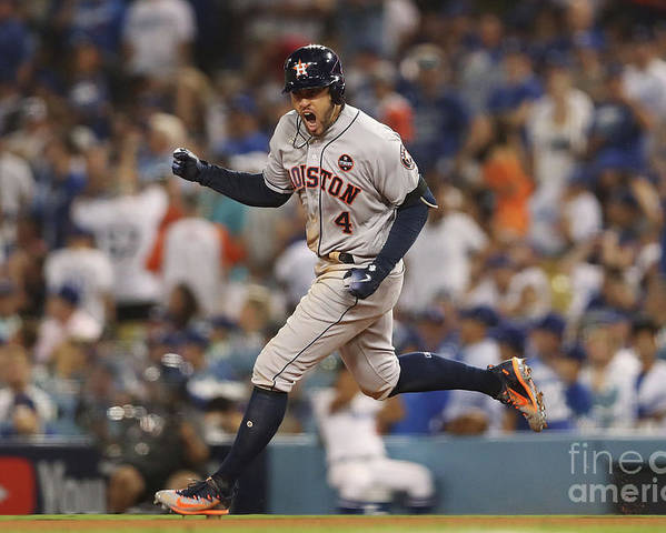 Game Two Poster featuring the photograph George Springer by Christian Petersen